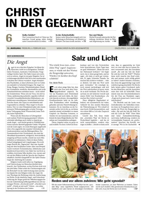 CHRIST IN DER GEGENWART 72. Jahrgang (2020) Nr. 6/2020