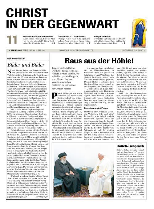 CHRIST IN DER GEGENWART 73. Jahrgang (2021) Nr. 11/2021