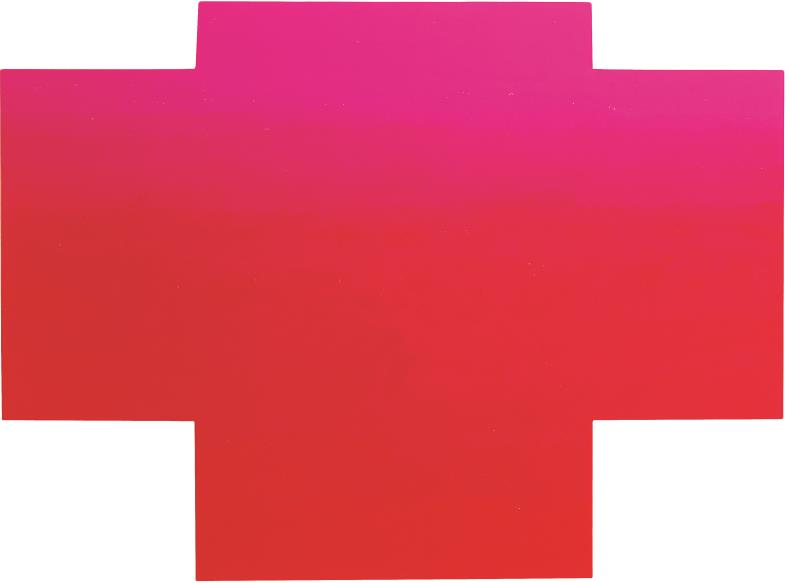 """""""Kreuz"""" (WV 887) von Rupprecht Geiger (128 hoch, 172 cm breit)"""