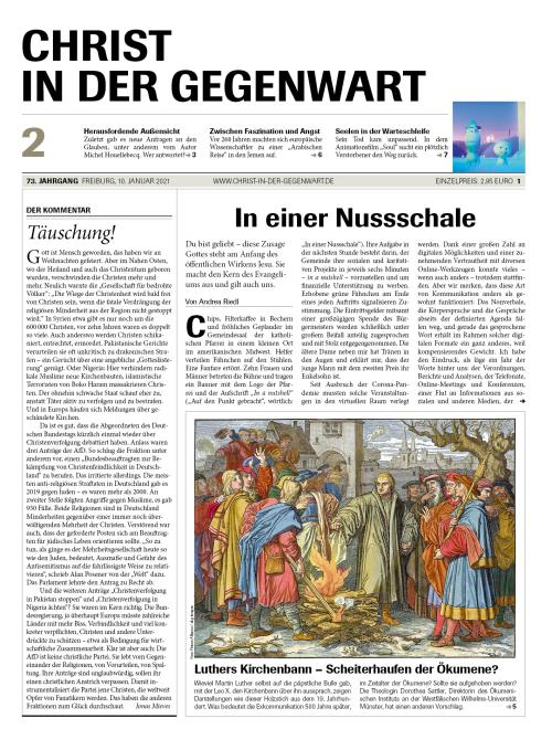 CHRIST IN DER GEGENWART 73. Jahrgang (2021) Nr. 2/2021