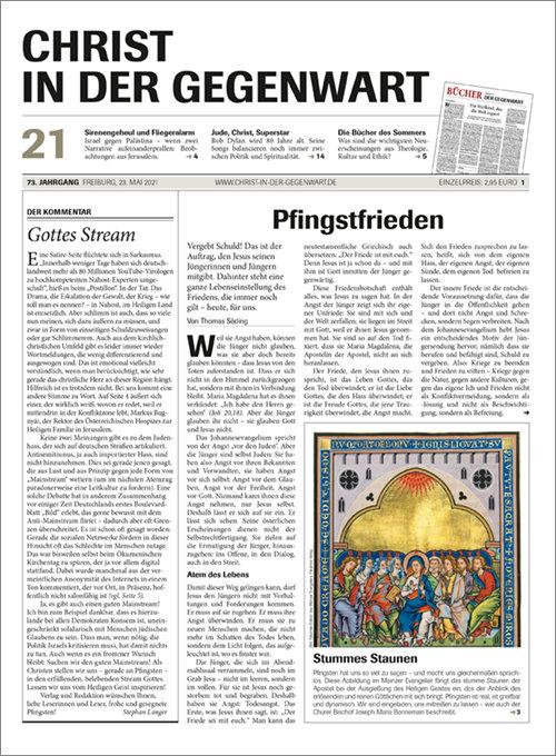 CHRIST IN DER GEGENWART 73. Jahrgang (2021) Nr. 21/2021