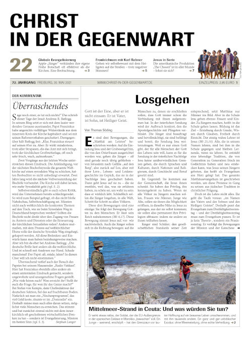 CHRIST IN DER GEGENWART 73. Jahrgang (2021) Nr. 22/2021