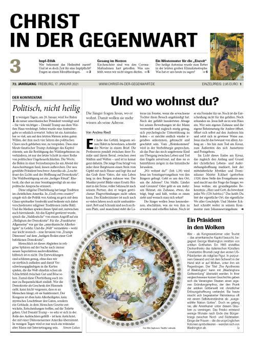 CHRIST IN DER GEGENWART 73. Jahrgang (2021) Nr. 3/2021