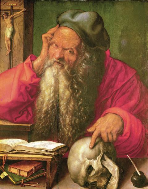Hieronymus im Studierzimmer, 1521 (Museu N. de Arte Antiga, Lissabon)