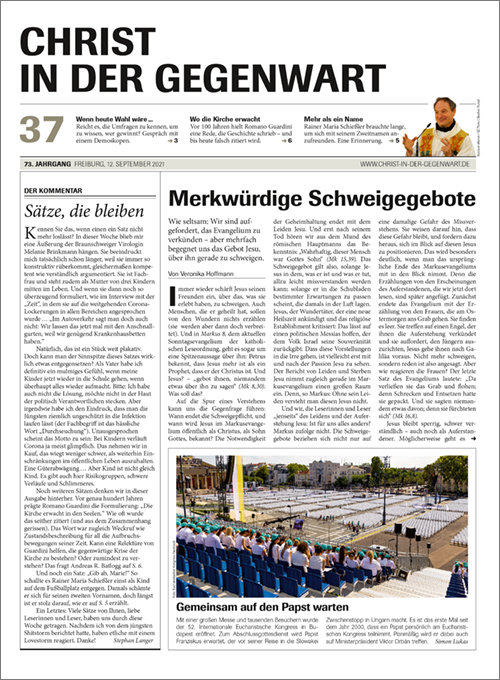 CHRIST IN DER GEGENWART 73. Jahrgang (2021) Nr. 37/2021
