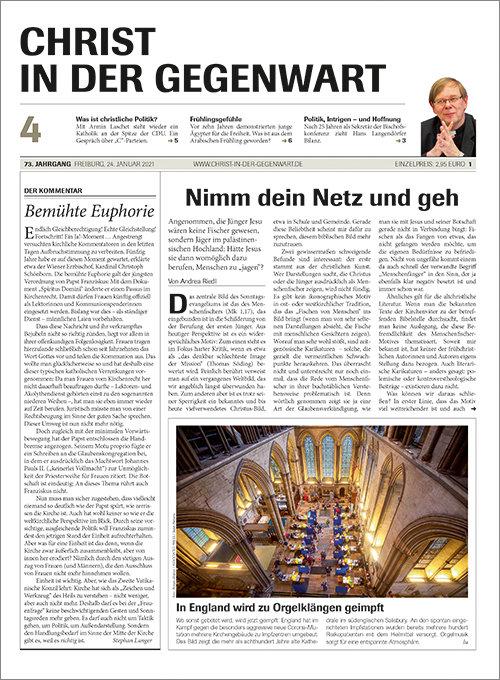 CHRIST IN DER GEGENWART 73. Jahrgang (2021) Nr. 4/2021