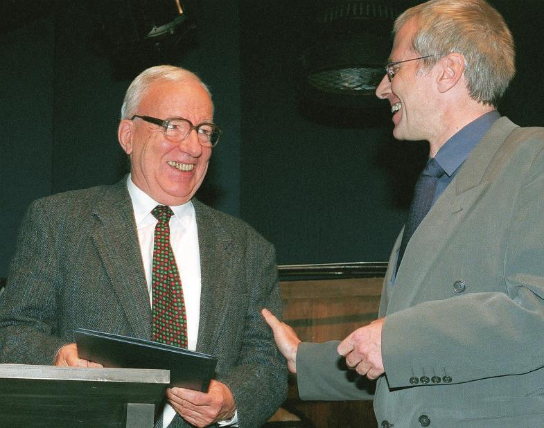 Aufklärer und Befreier: Kurt Marti (1921–2017), bei einer Preisverleihung 1997.