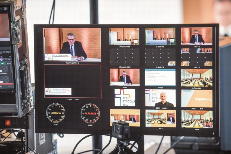 Neue Formate, neue Gesprächskultur? Das jüngste Treffen des Synodalen Wegs fand als zweitägige Online-Konferenz statt.