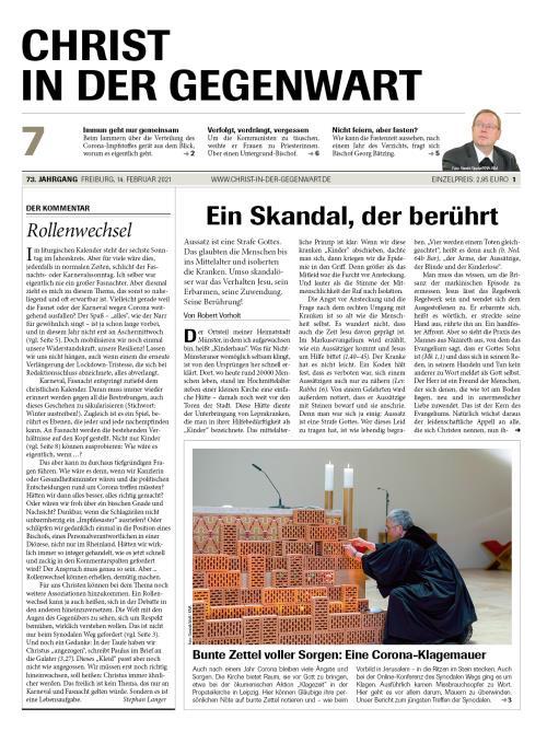 CHRIST IN DER GEGENWART 73. Jahrgang (2021) Nr. 7/2021
