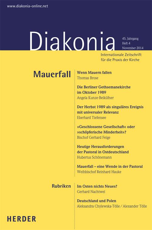 Diakonia. Internationale Zeitschrift für die Praxis der Kirche 45 (2014) Heft 4