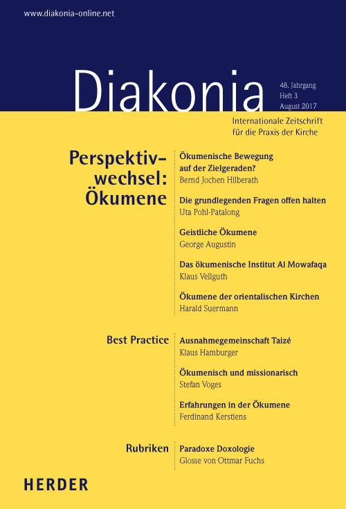 Diakonia. Internationale Zeitschrift für die Praxis der Kirche 48 (2017) Heft 3
