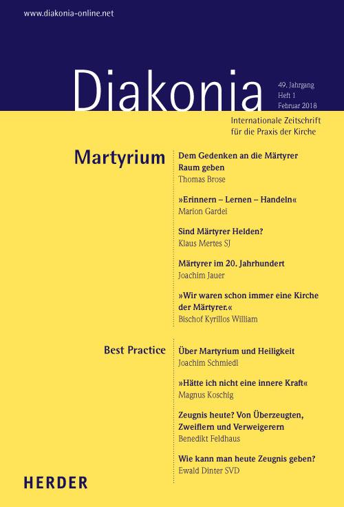 Diakonia. Internationale Zeitschrift für die Praxis der Kirche 49 (2018) Heft 1