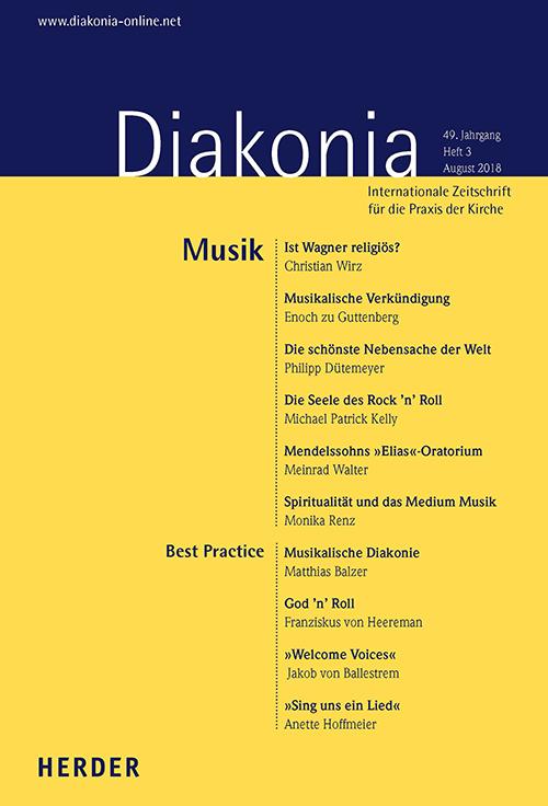 Diakonia. Internationale Zeitschrift für die Praxis der Kirche 49 (2018) Heft 3