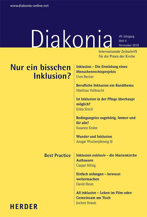 Diakonia. Internationale Zeitschrift für die Praxis der Kirche 48 (2018) Heft 4