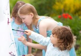 Frühlingsbasteln im Kindergarten