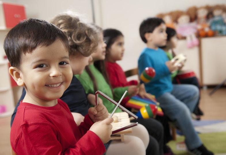 Frühlingslieder im Kindergarten