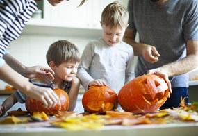 Herbstbasteln im Kindergarten