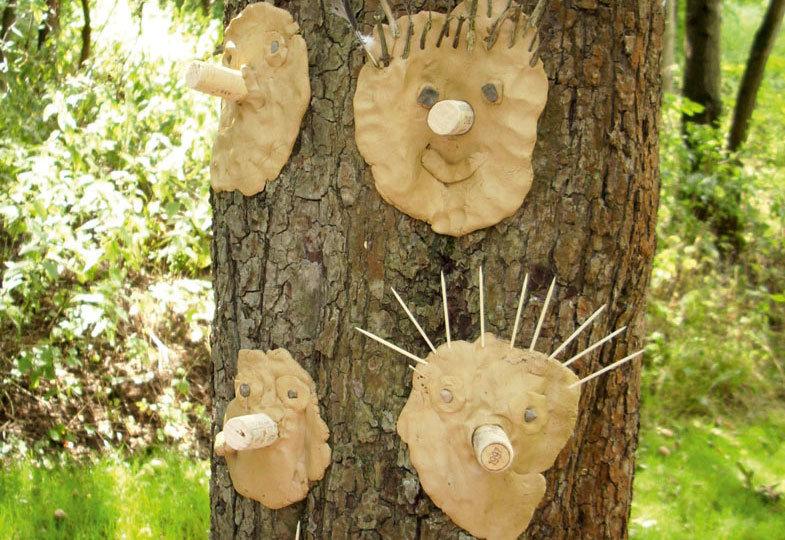 Im Waldatelier: Kreatives Gestalten mit Naturmaterialien