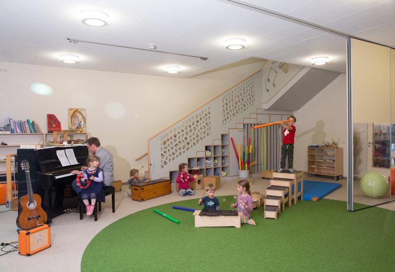 Musikkindergarten Lichtenberg; Ein Raum zum Musizieren, Bewegen und Schlafen