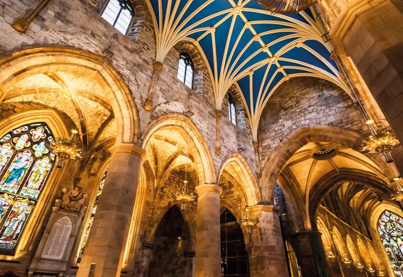 Eine gotische Kirche