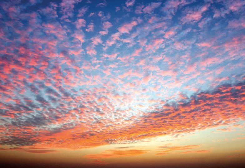Staunen über einen Sonnenuntergang