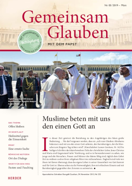 Gemeinsam Glauben. Mit dem Papst | Nr. 3/2019