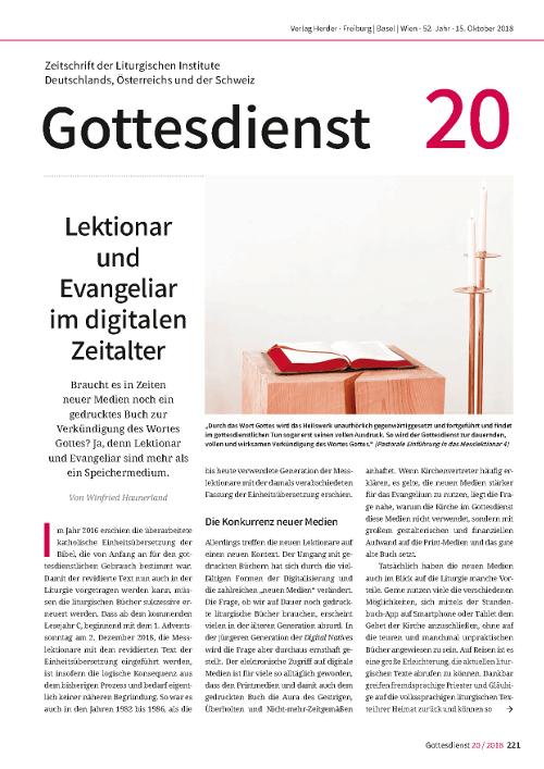Gottesdienst 20 / 2018
