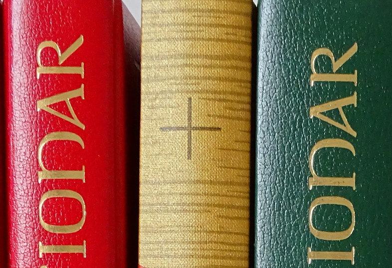 Buchrücken des neuen zwischen zwei