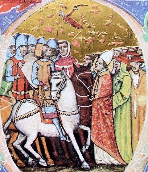 Papst Leo I. verhandelt mit den Hunnen