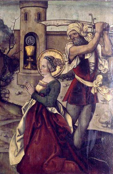 Enthauptung der heiligen Barbara
