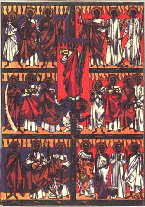 Darstellung des Hl. Karl Lwanga und seiner Gefährten