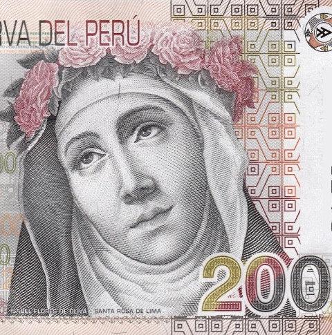 Rosa von Lima auf einem peruanischen 200-Sol-Schein