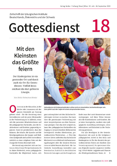 Gottesdienst 18 / 2019