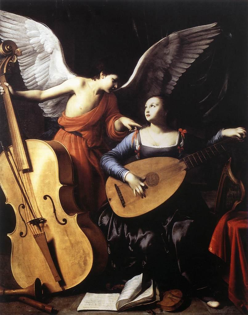 Heilige Cäcilia mit Mandoline