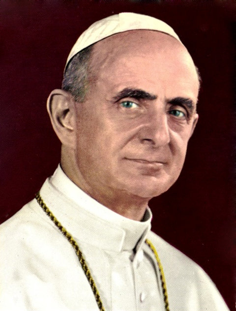 Portraitaufnahme von Papst Paul VI.