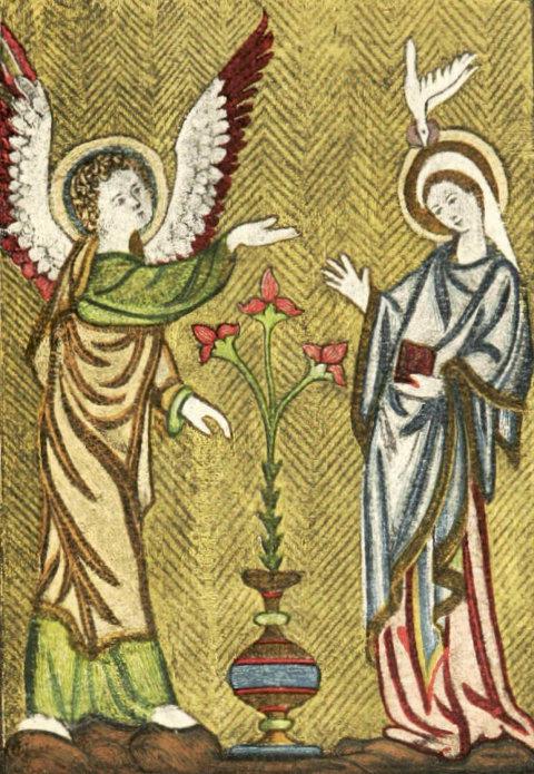 Darstellung Der Engel Gabriel besucht Maria (Stickerei)