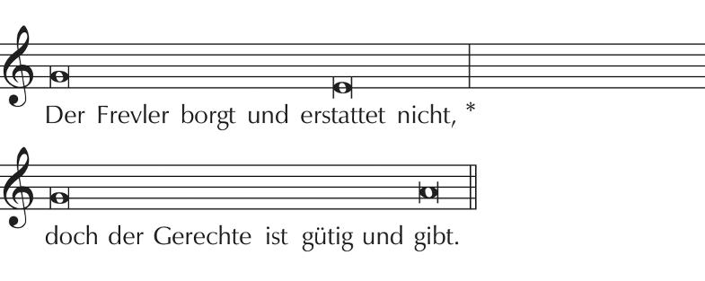 Notenbeispiel 4: Ps 37,21