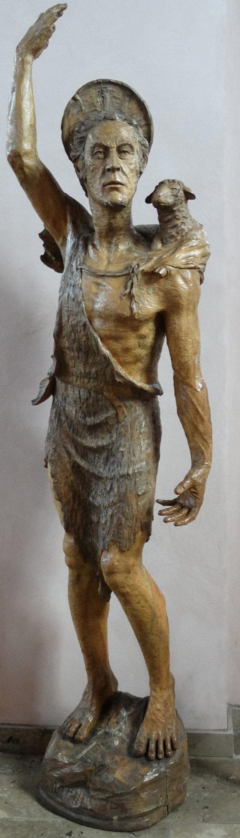 Holzstatue Johannes' des Täufers