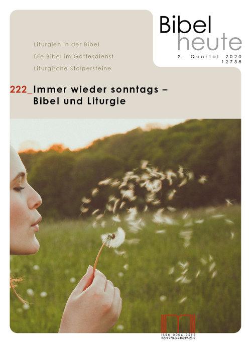 Cover Bibel heute Nr. 2/2020