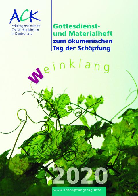 Cover des Gottesdienstheftes zum Schöpfungstag 2020