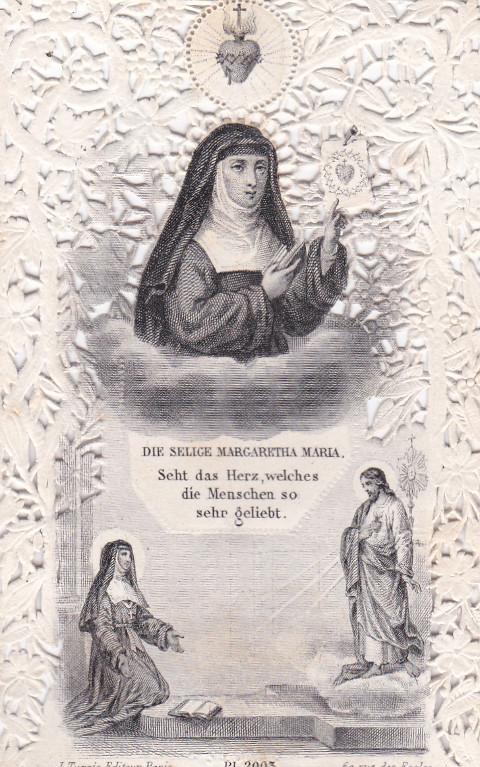 Andachtsbild Margareta Maria Alacoque (ca. 1880)