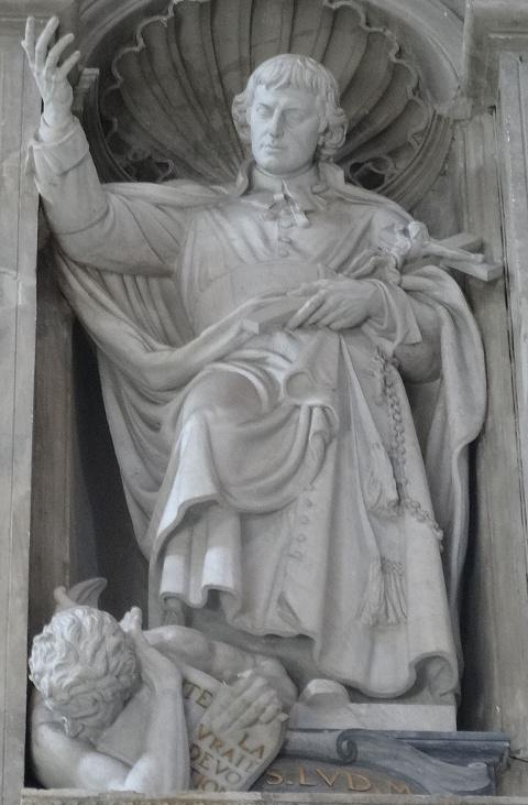 Statue des heiligen Louis-Marie Grignion de Montfort im Petersdom