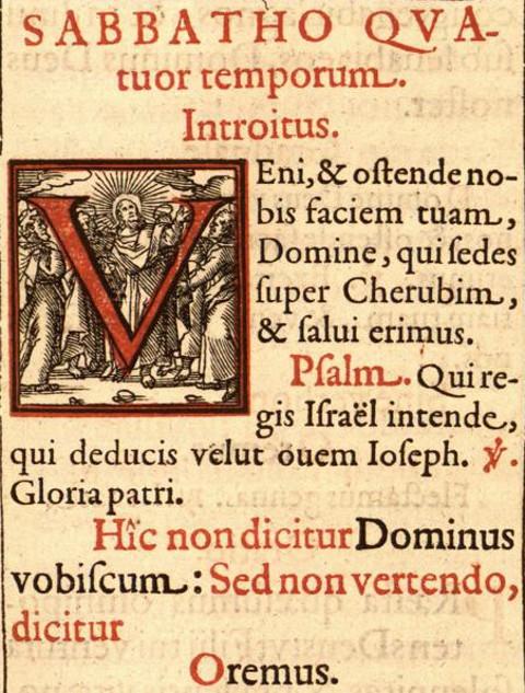 Introitus Quatembersamstag vor dem 4. Advent, Missale Trevirense, 1608