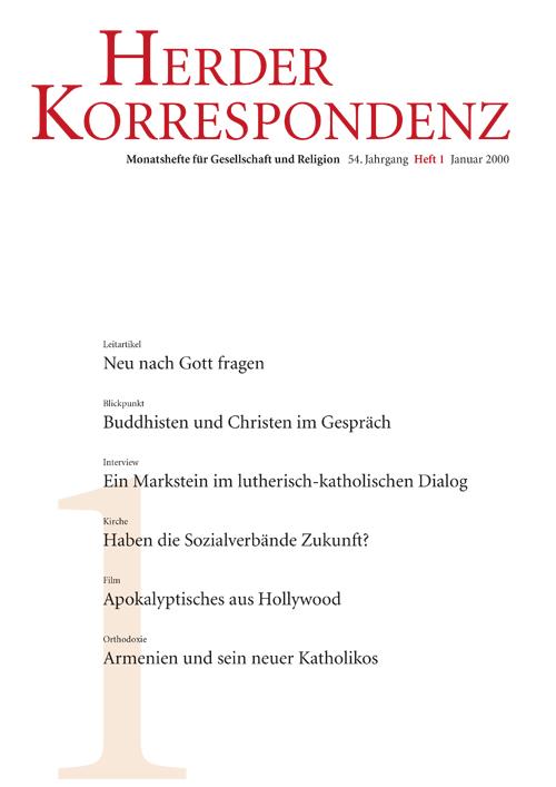 Herder Korrespondenz. Monatsheft für Gesellschaft und Religion 54 (2000) Heft 1
