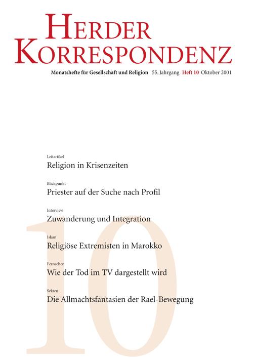 Herder Korrespondenz. Monatsheft für Gesellschaft und Religion 55 (2001) Heft 10