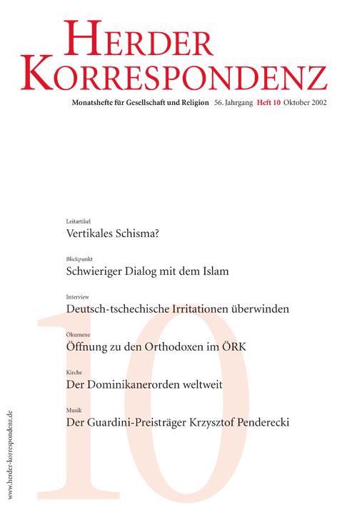 Herder Korrespondenz. Monatsheft für Gesellschaft und Religion 56 (2002) Heft 1