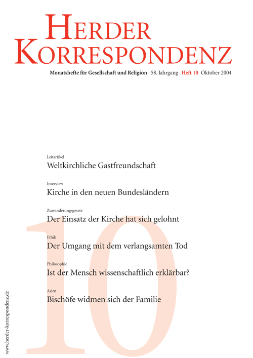Herder Korrespondenz. Monatsheft für Gesellschaft und Religion 58 (2004) Heft 10