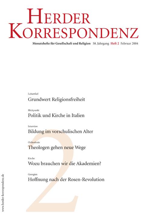 Herder Korrespondenz. Monatsheft für Gesellschaft und Religion 58 (2004) Heft 2