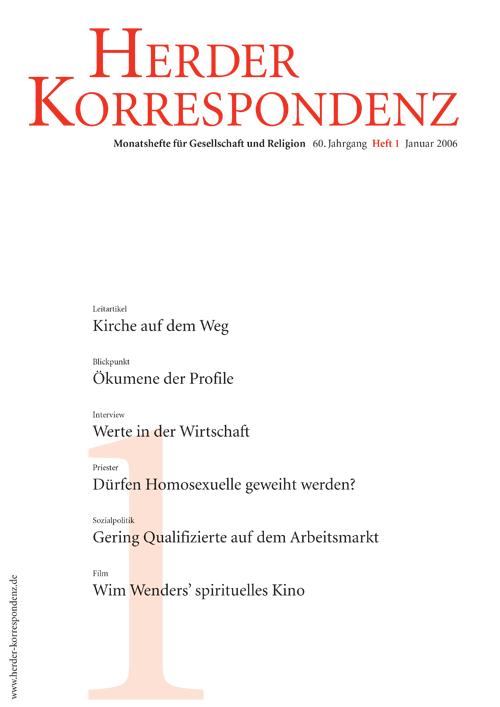 Herder Korrespondenz. Monatsheft für Gesellschaft und Religion 60 (2006) Heft 1
