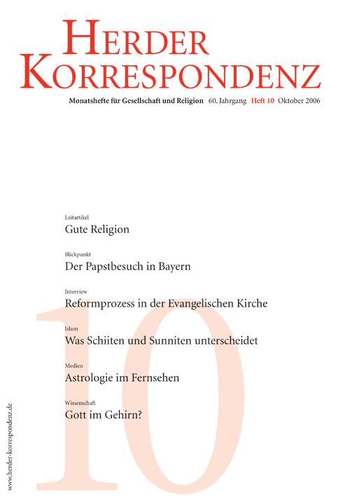Herder Korrespondenz. Monatsheft für Gesellschaft und Religion 60 (2006) Heft 10